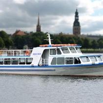 Ceļojums ar kuģīti no Rīgas līdz Jūrmalai