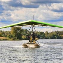 Iepazīšanās lidojums ar motodeltaplānu no ūdens+foto/video