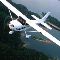 """Lidojums virs Rīgas ar """"Cessna"""""""