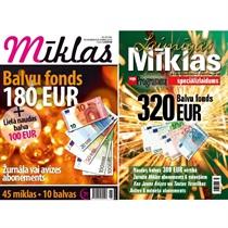 Подписка на журналы «Mīklas» и «Laimīgās Mīklas»