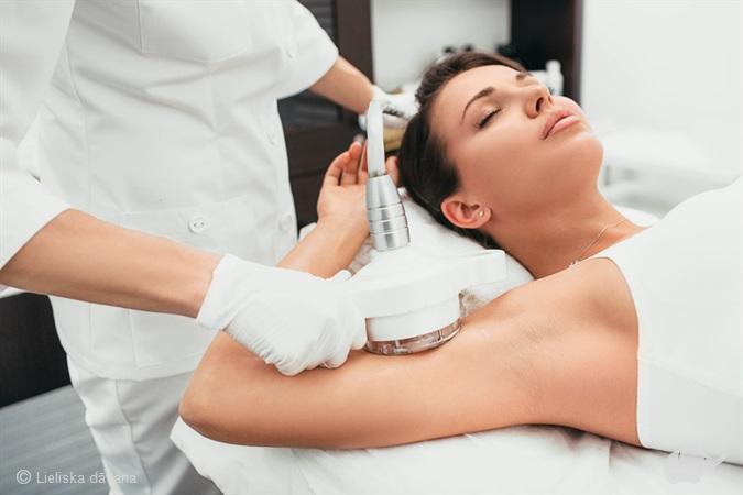 Аппаратный LPG-массаж для похудения и борьбы с целлюлитом + ультразвуковая терапия + электростимуляция