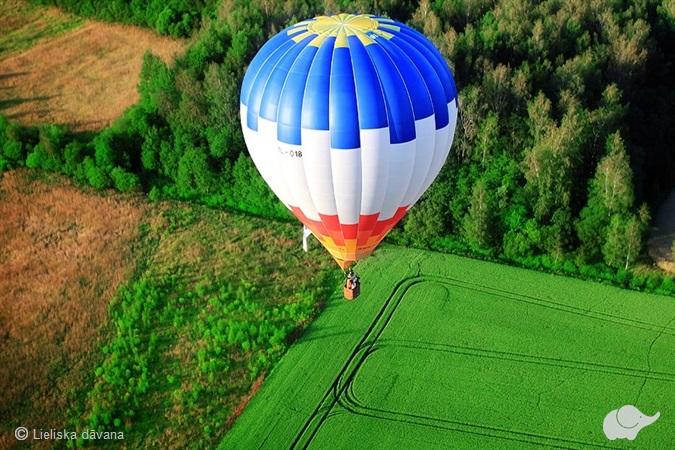 Полет на воздушным шаром в Латвии
