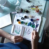 Meistarklase porcelāna trauku apgleznošanā