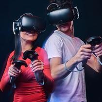 """Virtuālās realitātes komandas spēle no """"Portāls VR Arcade"""""""