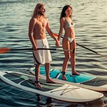 Brauciens pa Alauksta ezeru ar SUP dēļiem