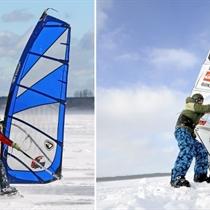 Individuāla ziemas vindsērfinga apmācība