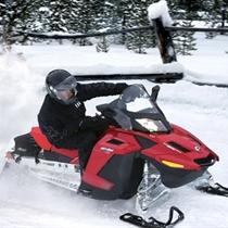 Ziemas izpriecas ar sniega motociklu