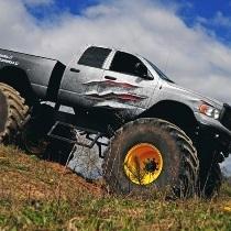 Заезд на «Monster truck» по трассе