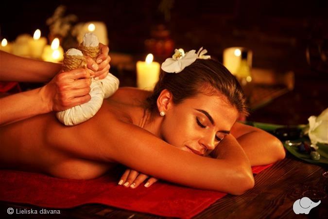 Массаж всего тела мешочками или гречневый массаж