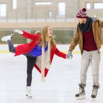 Романтическое катание на коньках для двоих