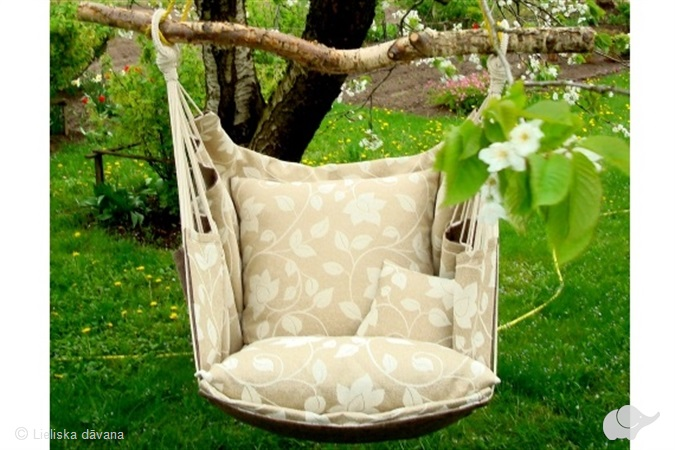 Šūpuļkrēsls mājai un dārzam, atpūtai un dekoram